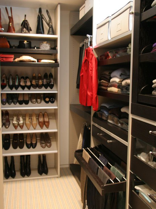 nice organizational ideas/ not so nice for dusting all of the time and purses falling onto each other...