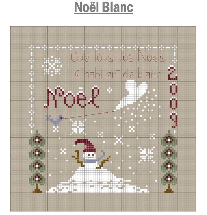 Noël blanc -Jura Point de croix (grille gratuite)