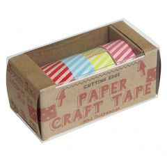 Candy Stripes Paper Tape   Paper Products Online