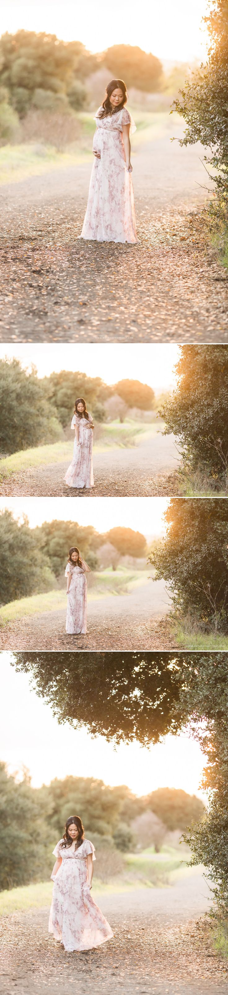 Romantic and Timeless Outdoor Maternity Session | Bay Area Maternity and Newborn Photography | Bethany Mattioli Photography