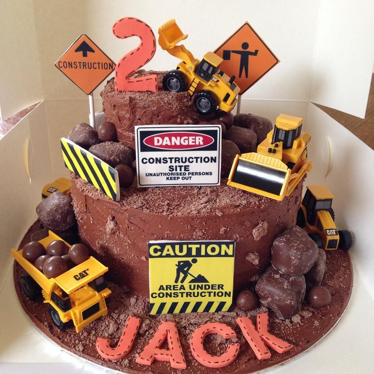 Roadworks Birthday Cake