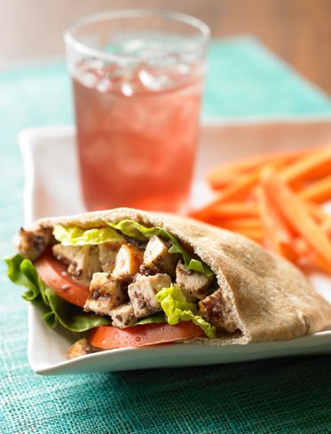 Olive Chicken Salad Pita Healthy Recipe #BiggestLoser