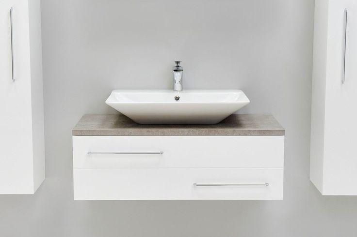 bathroom vanity units for countertop basins white | Bathroom Avenue. Modern Vanity Unit White & Counter Top Basin | White ...