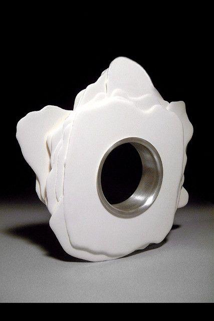 Bracelet- Cast polyurethane and silver