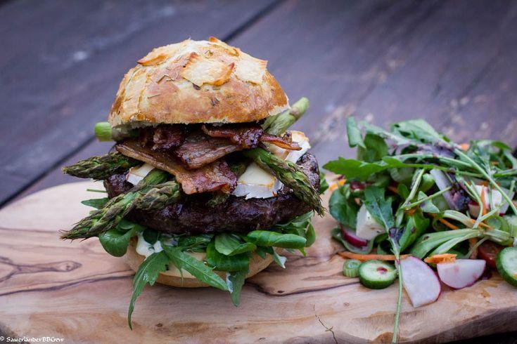 Smoked Spargel Burger – Sauerlaender BBCrew
