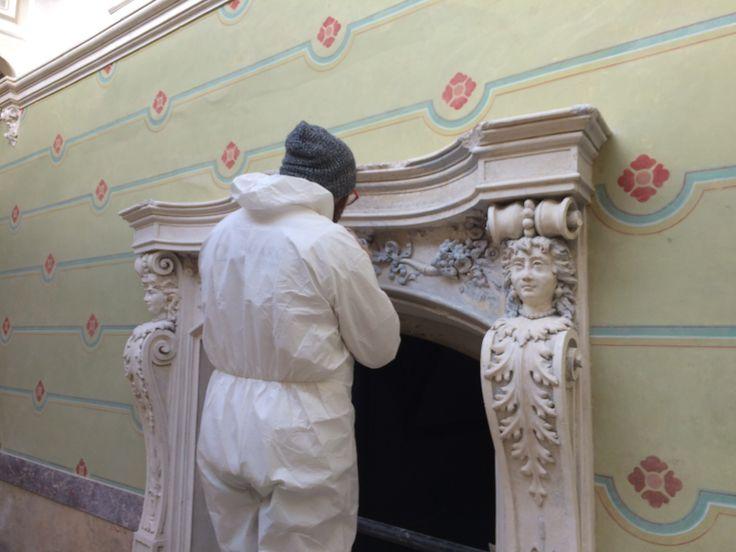 Lavori in corso restauro architettura liberty