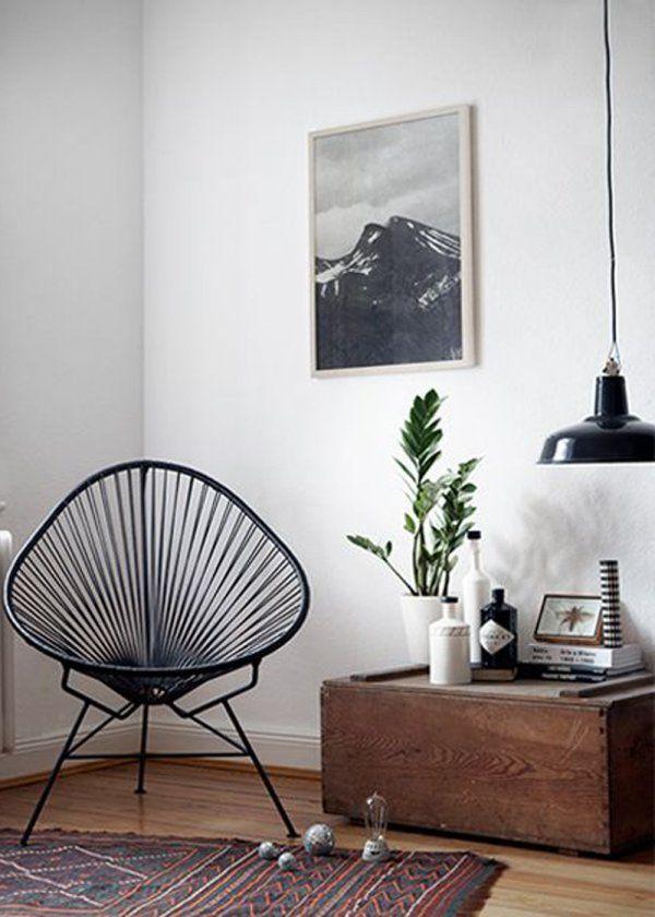 La chaise tendance Acapulco noir pour une déco vintage