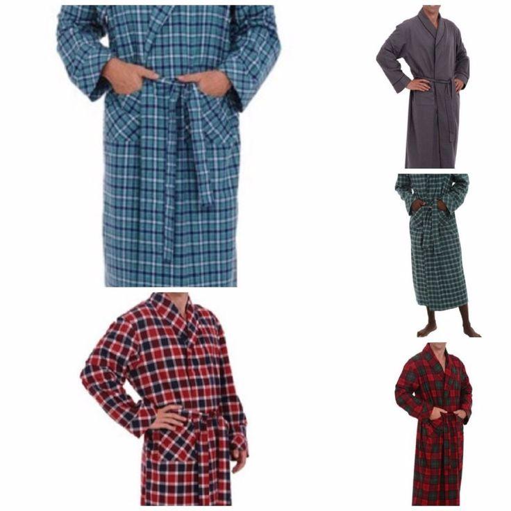 Men's lightweight flannel robes