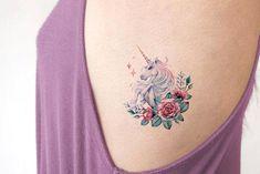 Unique Cute Watercolor Unicorn Small Rib Tattoo Ideas for Women for Teens – Small Unicorn Rib Tattoo Ideas – www.MyBodiArt.c …