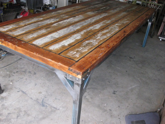Rustic Vintage Industrial CustomMade Dining by karrottopdesign, $1200.00