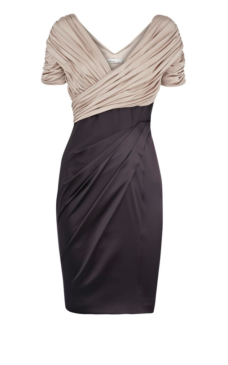 Karen Millen - Jersey and satin dress