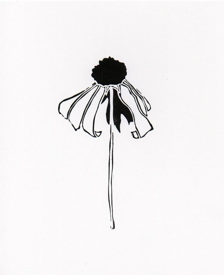 Flower 4 linocut print