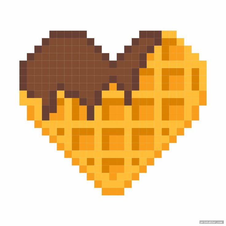 waffle minecraft food printables card | Pixel art pattern ...