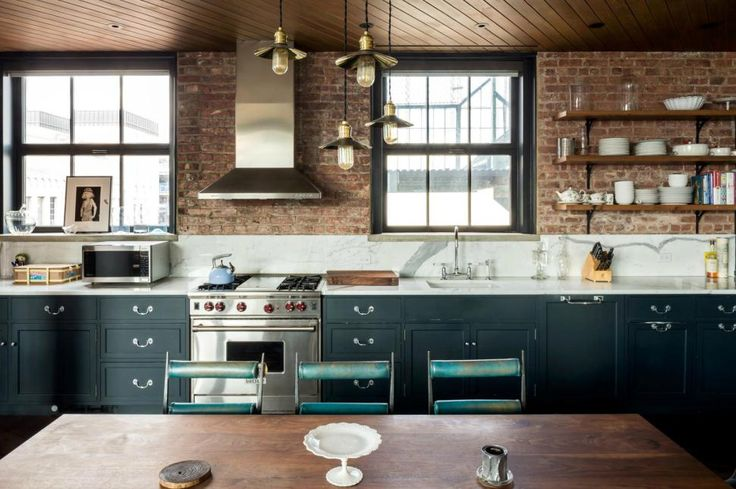 Pictured is the kitchen inside Kirsten Dunst's two-bedroom penthouse.