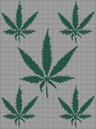 Marijuana Leafs Crochet Pattern Crochet Crochet