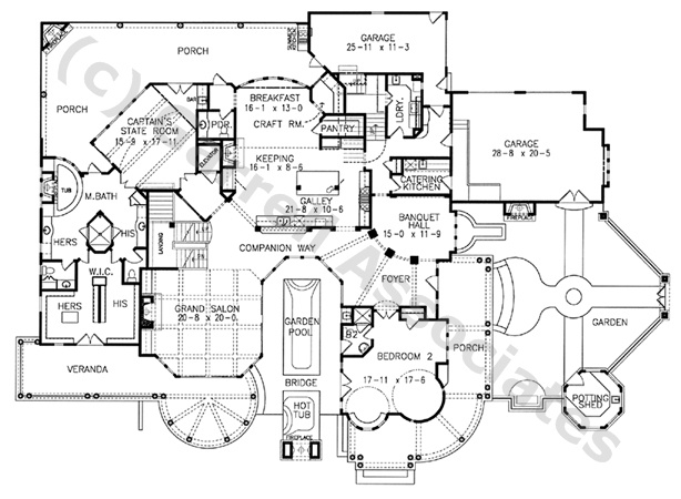 05232 lightkeepers house plan 1st floor plan coastal for Coastal craftsman house plans