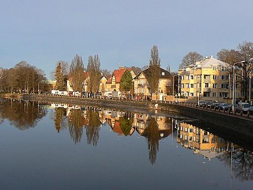 Riverside houses in Karlstad