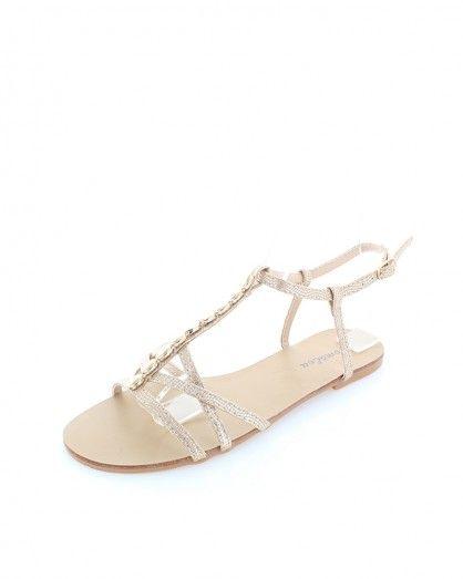 Zlaté sandály Klarita