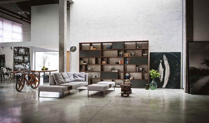 Living room decor ideas: industrial style