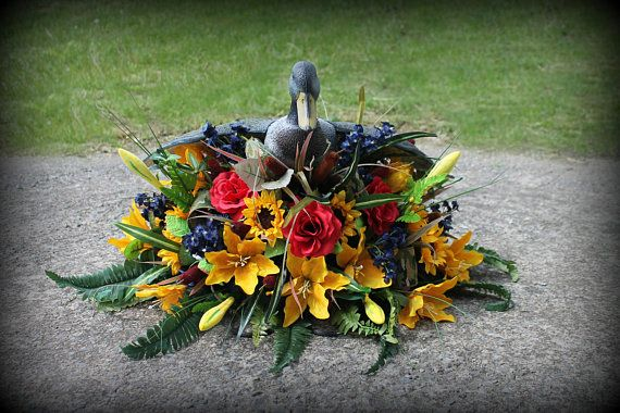Duck hunter cemetery saddle, duck tombstone arrangement  Hunting