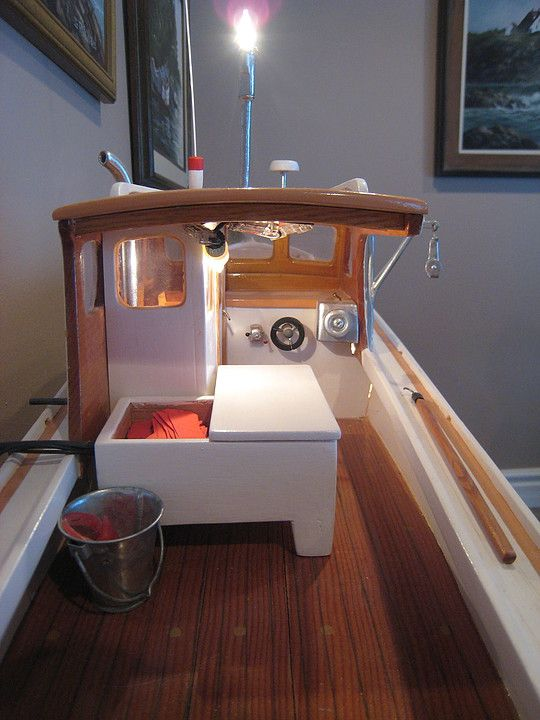 wooden Maine miniature lobster boats build by Maine Boatbuilder Hall of Fame recipient, Willis A ...