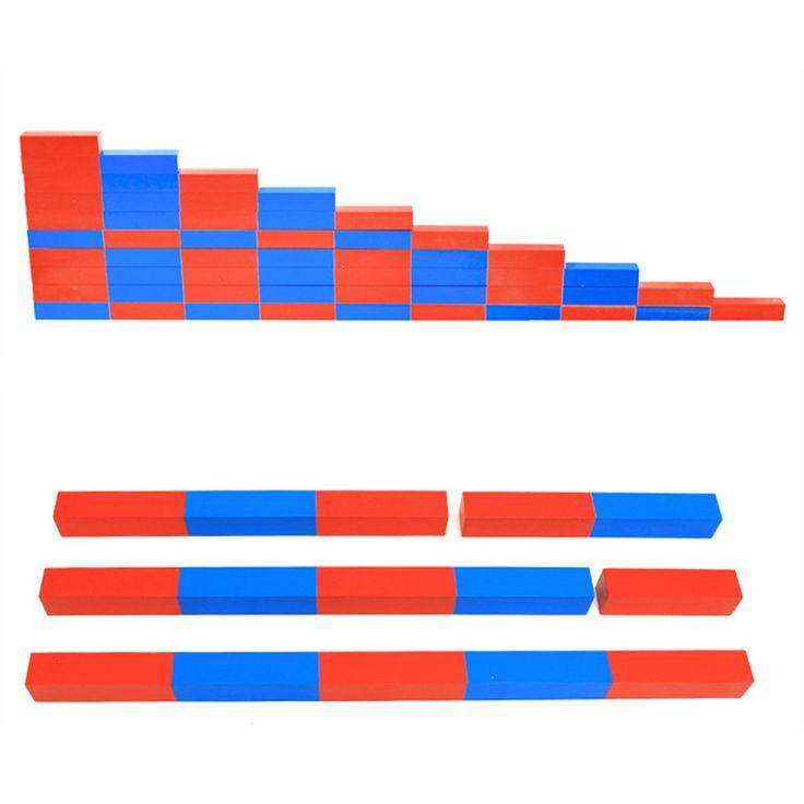 Kids Montessori Rode Lange Sticks Math Speelgoed meisjes Vroegschoolse Staven Houten Onderwijs jongens Speelgoed in Kids Montessori Rode Lange Sticks Math Speelgoed meisjes Vroegschoolse Staven Houten Onderwijs jongens Speelgoed van Math Speelgoed op AliExpress.com | Alibaba Groep