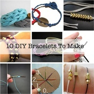 10 DIY bracelets to make - some of these tutorials are way easier than the ways I first learned to do them!
