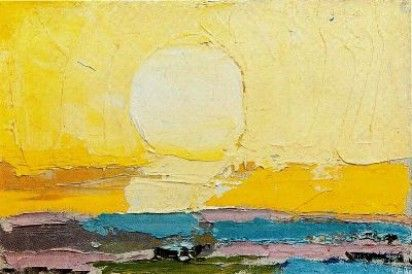 Nicolas de Staël : Le soleil (1952) Huile sur toile (16 x 24)