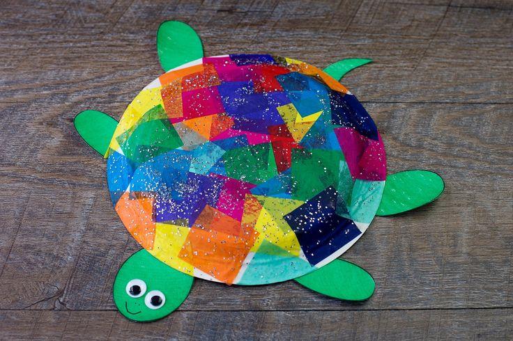 Wr basteln eine Schildkröte, das passt gut zum Piraten-oder Meerjungfrauen-Geburtstag. Oder einfach so. Ideal f¨¨r jüngere Kinder oder, wenn Sie als Eltern wenig Geduld haben, einen Mini-Workshop  am Geburtstag zu leiten.