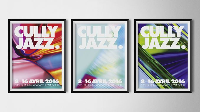 Affiche 2016 : Cully Jazz Festival du 8 au 16 avril 2016.