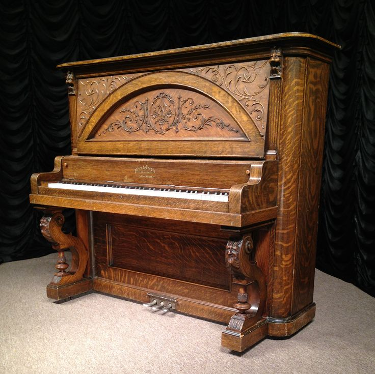 Price & Teeple Victorian Oak Upright Piano | The Antique Piano Shop. Beautiful!!!