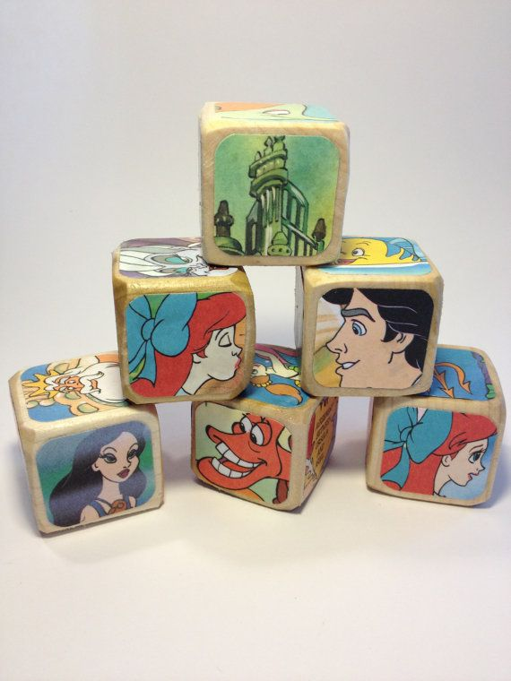The Little Mermaid // Childrens Book Blocks // by StorybookBlocks, $22.00