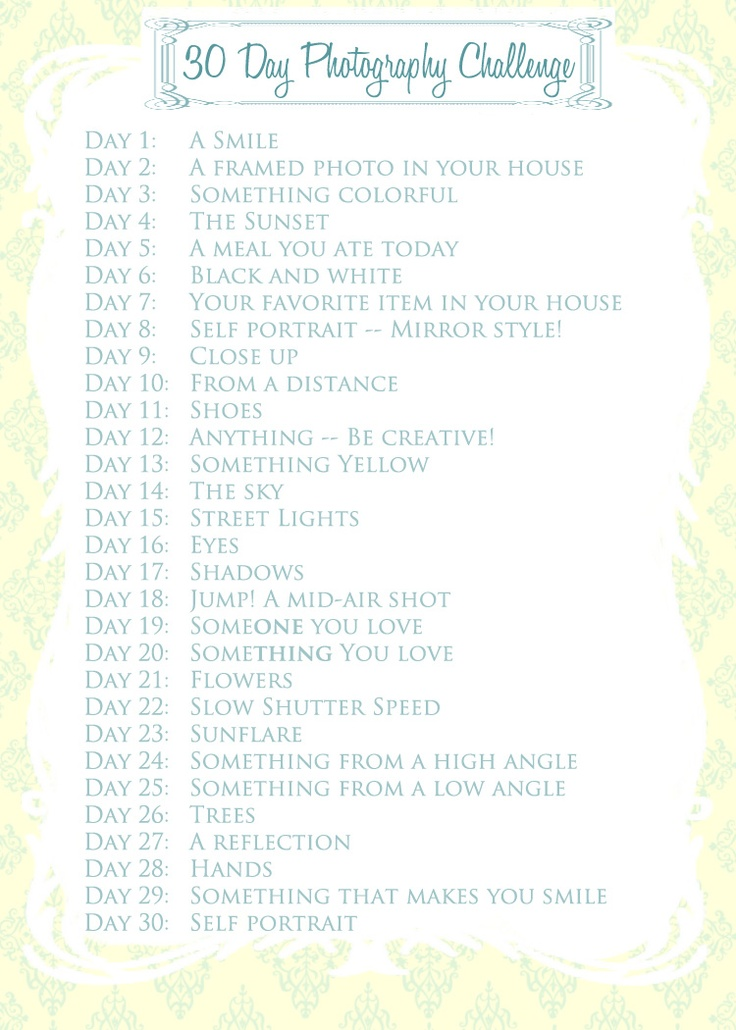 30 Photography Challenge...trying to get inspired and shoot more often.