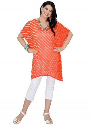 Gabbi Mid Length Citrus Orange Kaftan Top.  AUS $24.95: Shipping Worldwide