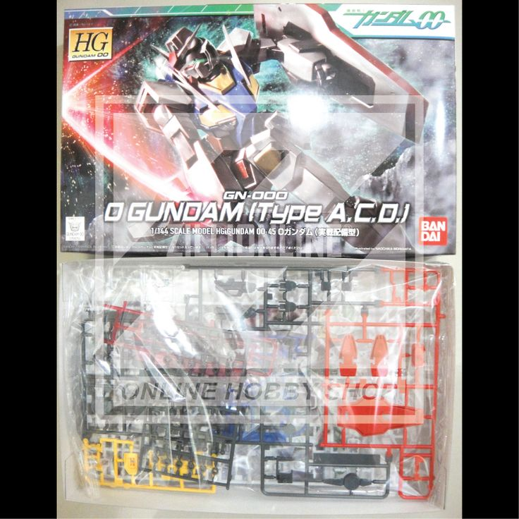 [MODEL-KIT] HG 1/144 - GN-000 O-GUNDAM [TYPE A.C.D]. Item Size/Weight: 29.8 x 18.8 x 5.7 cm / 232g*. (*ITEM SIZE & WEIGHT BEFORE PACKAGED). Condition: MINT / NEW & SEALED RUNNER. Made by BANDAI.