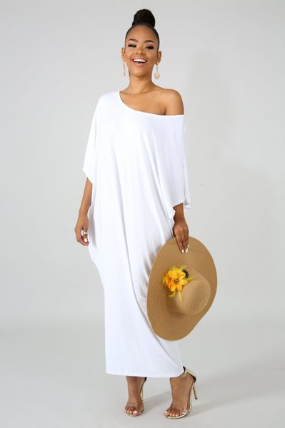 c2518eaa3c6e  39.99 Summer White Dress. Off the shoulder T-shirt Maxi dress. Off The  Shoulder Lounge White T Shirt Dress