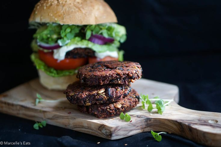 Black Bean Beetroot Patties