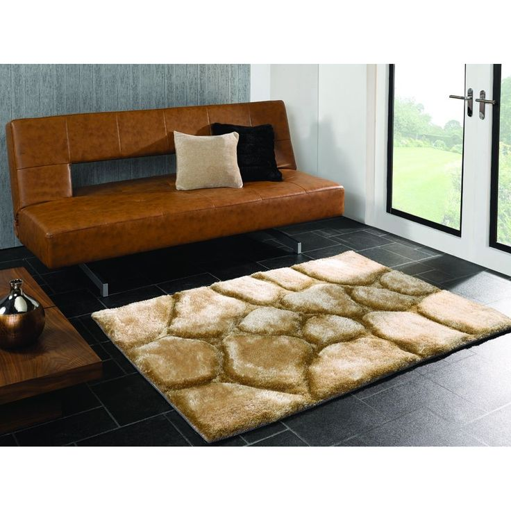 Flair Brook 3D Pebbles Rug Beige By Flair Rugs May Show Price At Top For  Smallest