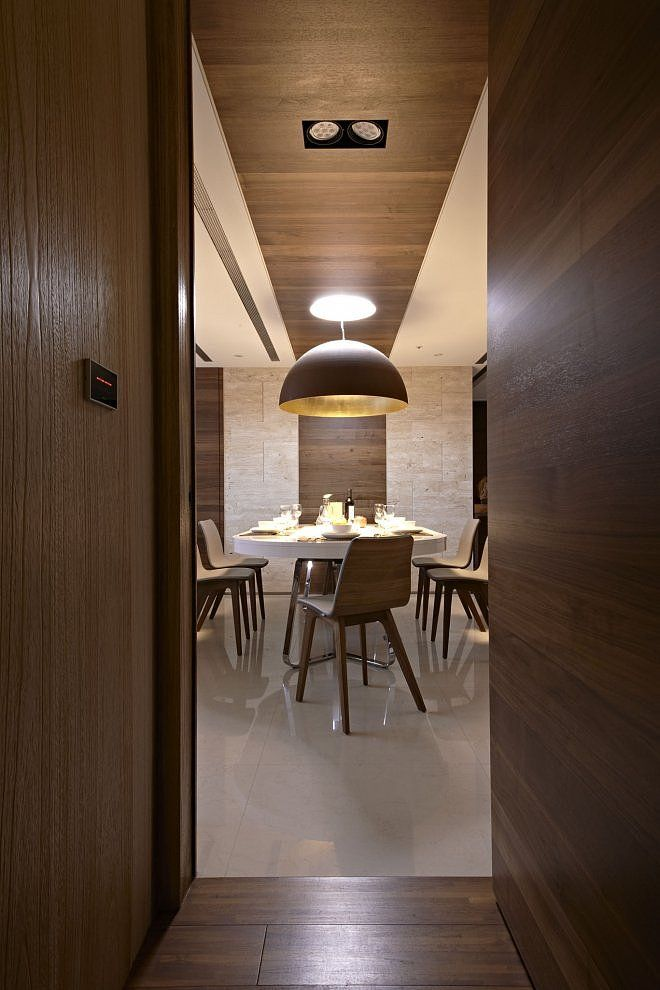 Dining Room Wrapped In Wood Hsiung House Interior By CCL Architects