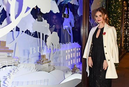 Burberry and Harrods unveiled a holiday campaign and fashion collection with a special Christmas theme at iconic British retailer Harrods.