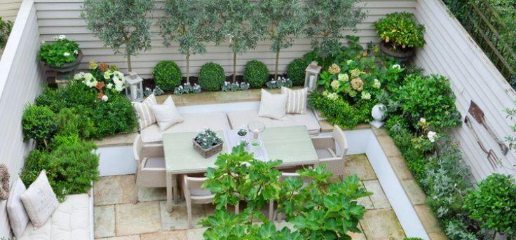 Kleiner Garten -gestaltung-shabby-landhausstil-vintage