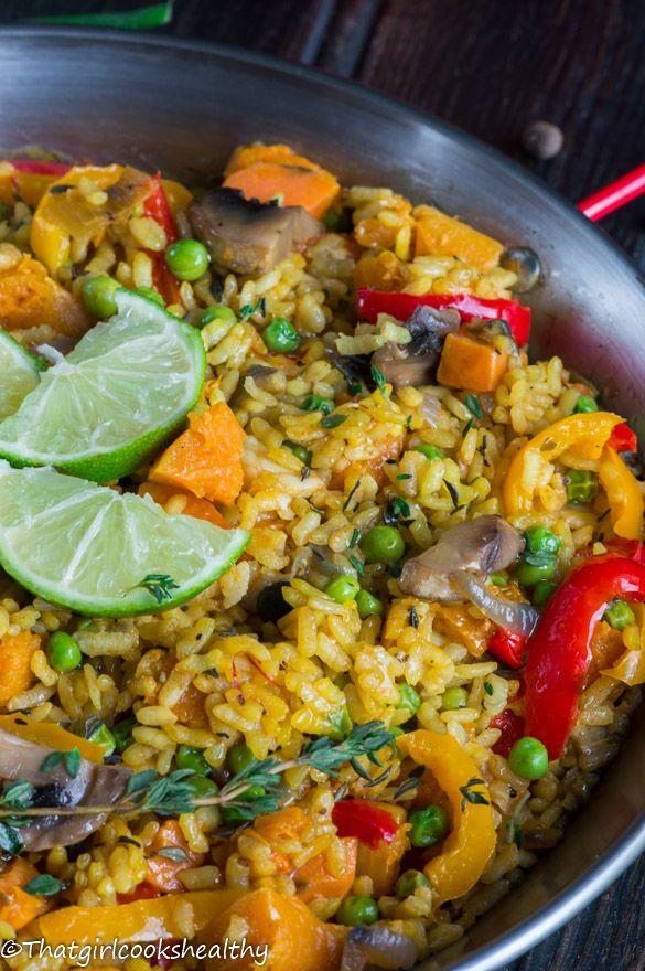 Vegan Caribbean Paella - A meat-free Caribbean twist on the classic Spanish dish!