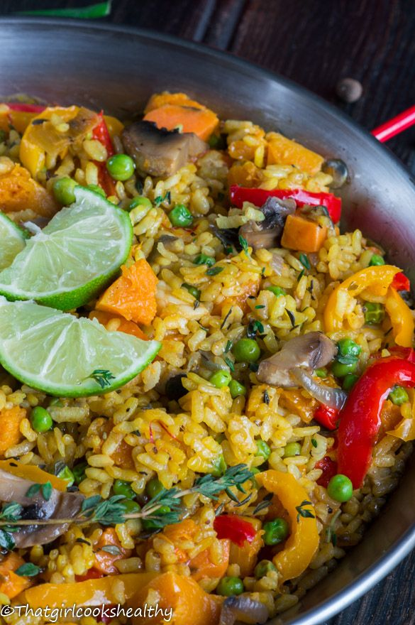 Vegan Caribbean Paella - A meat-free Caribbean twist on the classic Spanish dish!