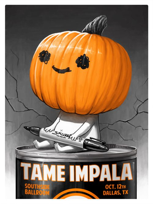 Here's a gig poster I did for the Tame Impala show on Saturday. I was so stoked to do this, as Tame Impala is one of my favorite band...