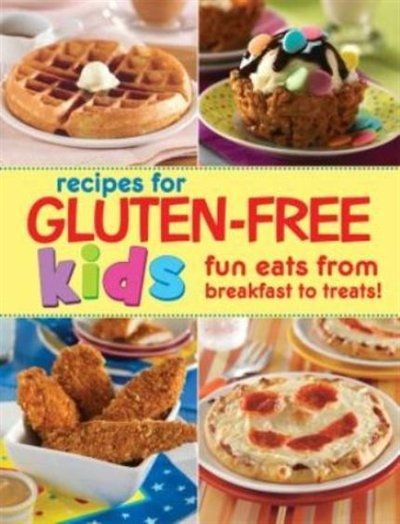 The Gluten-Free Recipes for Kids cookbook offers more than 85 kid-friendly gluten-free recipes. The Gluten-Free Recipes for Kids cookbook does the planning for you. The spiral-bound cookbook includes an introductory section filled with helpful tips and educational information to help parents understand celiac disease, including a description of the dairy-free and gluten-free (GFCF) diet, and recipes to fit.