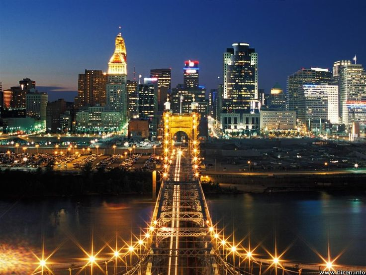 Cincinnati skyline: Spaces, Favorite Places, Suspension Bridge, Roebling Suspension, Travel, Ive, Bridges, Cincinnati Ohio