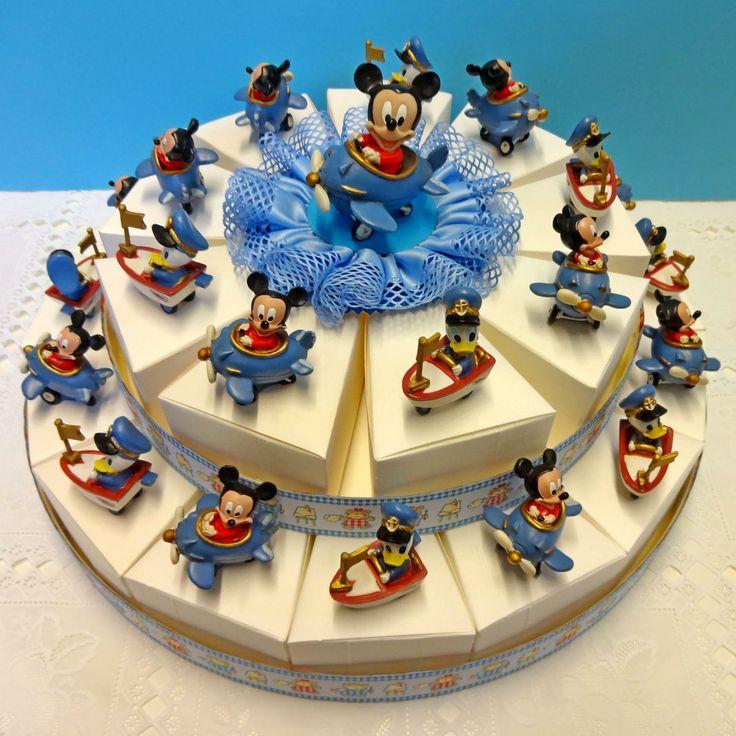 """Torta Bomboniera con Topolino Mickey e Paperino Donald Disney. Torte Bomboniere realizzate da """"Ore Liete - La Bomboniera Italiana"""""""