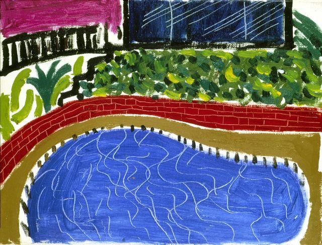 David Hockney, 'Montcalm Pool, Los Angeles,' 1980, Richard Gray Gallery
