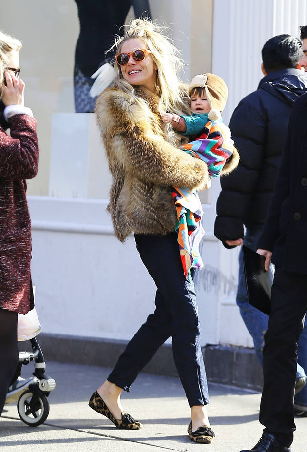 Sienna Miller and Daughter Marlow