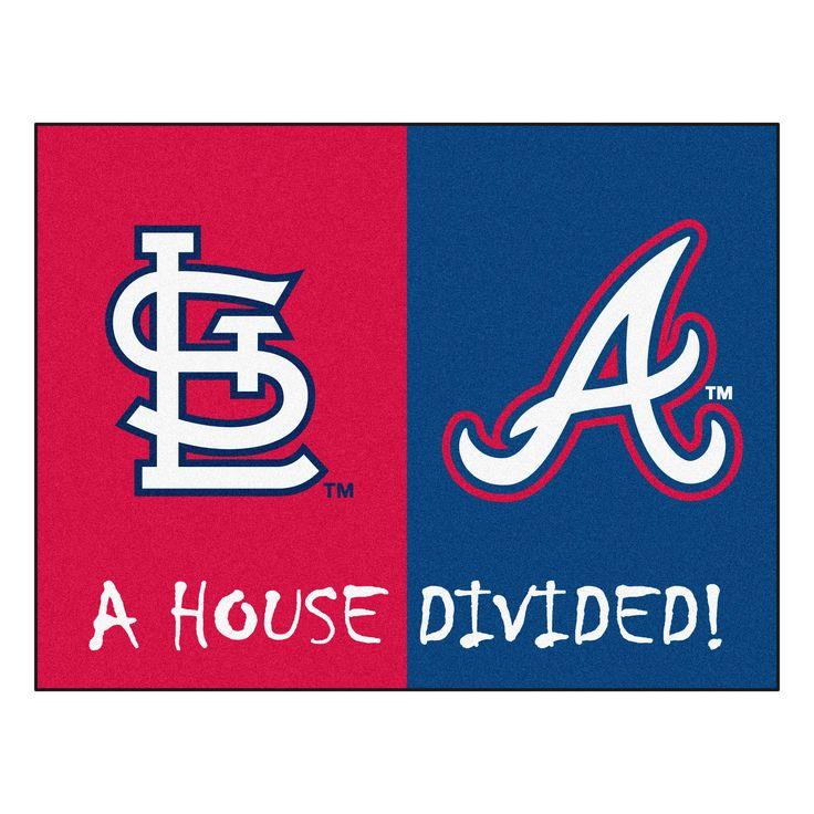 MLB Red/Blue Area Rug